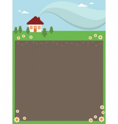house frame vector image