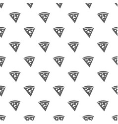 pizza pattern seamless vector image