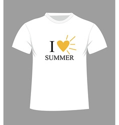 T-shirt template Front and back vector image