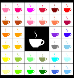 cup sign with one small stream of smoke vector image vector image