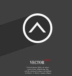 Direction arrow up icon symbol Flat modern web vector image