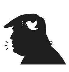 donald trump silhouette and social media icon vector image vector image