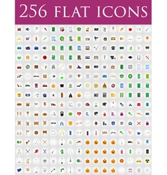 flat icons 11 vector image vector image