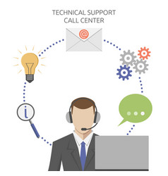 Man in technical support vector