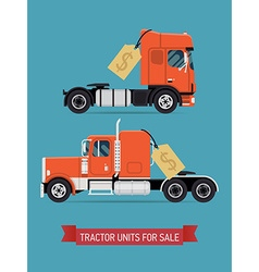 Tractor unit for sale poster vector