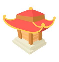 asian pagoda icon cartoon style vector image vector image