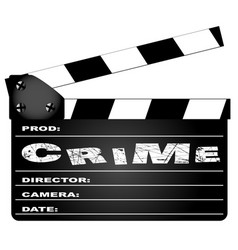 crime movie clapperboard vector image