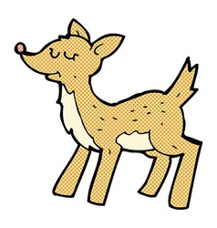 Cute comic cartoon deer vector