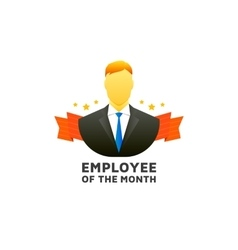 Employee of the month vector image