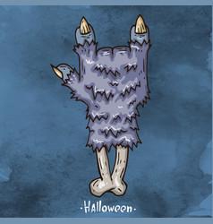 happy halloween cartoon vector image vector image
