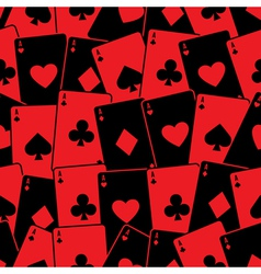 Playing cards seamless background pattern vector image vector image
