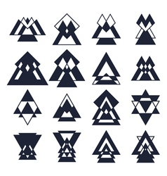 Trendy design elements Collection of geometric vector image vector image