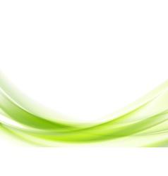 Vibrant green wavy design vector image