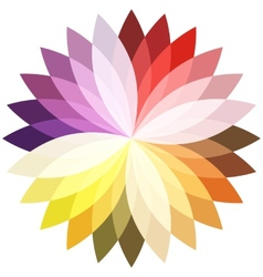 Flower color lotus silhouette for design vector image