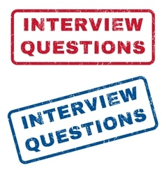Interview questions rubber stamps vector