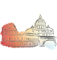 rome vector image