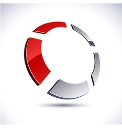 Abstract 3d round icon vector image