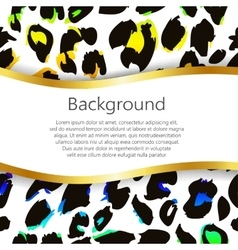 Abstract background with leopard print design vector image