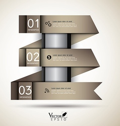 Abstract business infographics template ribbon vector image