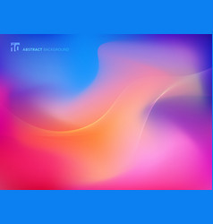 Abstract colorful blurred background with smooth vector