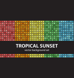 abstract pattern set tropical sunset seamless vector image