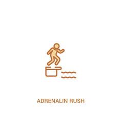 Adrenalin rush concept 2 colored icon simple line vector