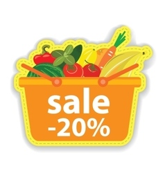 Advertising sales products in the supermarket vector