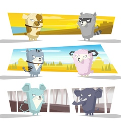 Animals collection team C vector image
