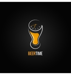 beer glass party time concept design background vector image