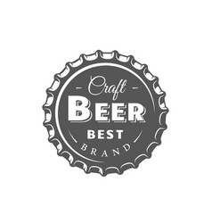 beer label isolated on white background vector image