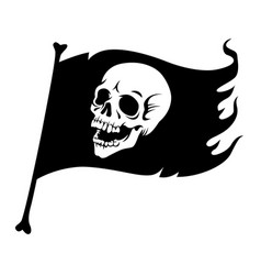 black pirate flag vector image