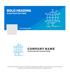 blue business logo template for business vector image