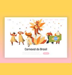 brazil carnival samba dancer character web page vector image