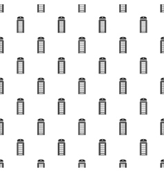 British phone booth pattern simple style vector