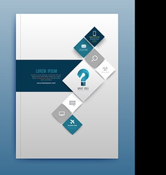 brochure design template flyer layout magazine vector image