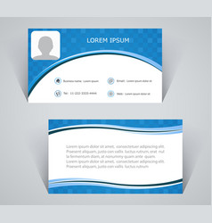 Business card simple pattern blue color vector