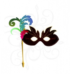 carnival or theater mask vector image