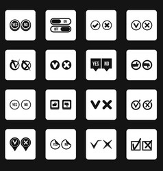 Check mark icons set squares vector