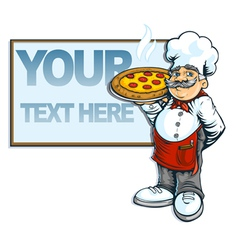 chef pizzaria vector image