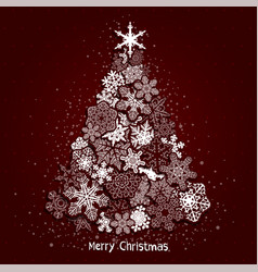 christmas fir tree vector image