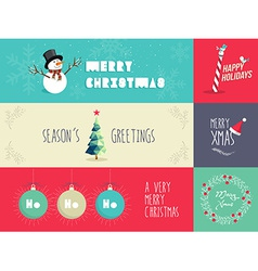 Christmas flat design set vector image