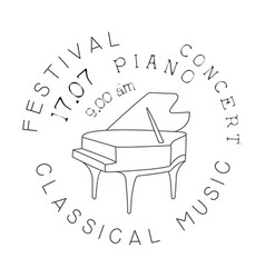 Classical live music concert black and white vector