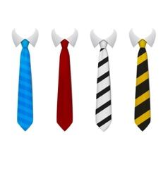Colored tie vector