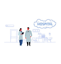 couple medical doctors team medical staff vector image