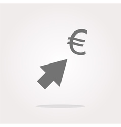 Currency exchange icons euro money sign with vector image