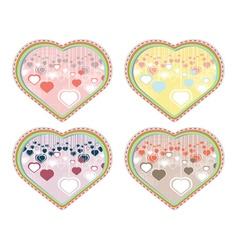 Decorative Hearts Background2 vector image