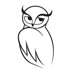 doodle sketch wise owl vector image