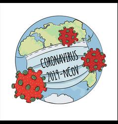 Epidemic ncov 2019 coronavirus health earth human vector