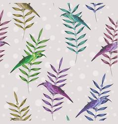 exotic bird branch seamless round background vector image