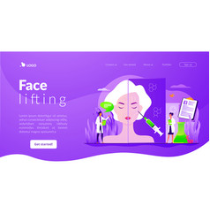 Face lifting concept landing page vector